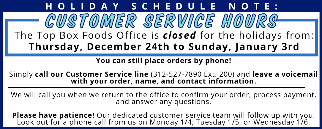 Top Box Customer Service Holiday Hours