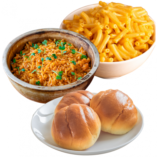 Holiday Sides: Mac & Cheese, Rice, & Dinner Rolls